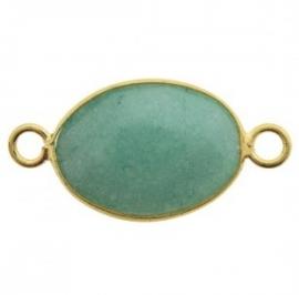 Tussenzetsel jade facet groen goud
