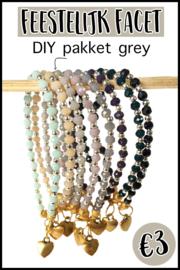 DIY pakket feestelijk facet grey