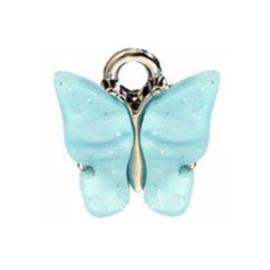 Bedel vlinder aqua zilver