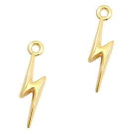 Bedels DQ metaal 19x5mm lightning Goud (nikkelvrij)