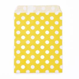 Cadeauzakje yellow dots