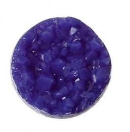 Cabochon crackle paars 12mm (C026)