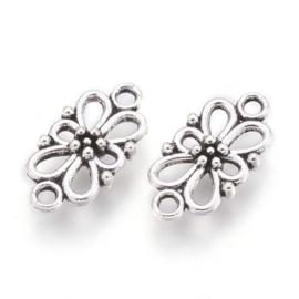 Tussenzetsel flower zilver