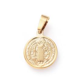 Bedel RVS virgin Saint Benedict goud