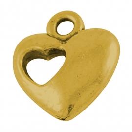 Bedel hart in hart goud (bulk)
