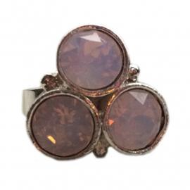 Swarovski ring lichtroze