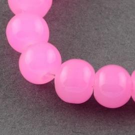 Glaskraal roze imitatie jade 6mm