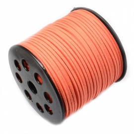 Suede kabel coral orange rot