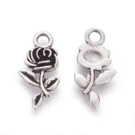Bedel roos zilver