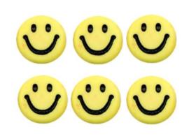 Letterkralen van acryl smiley geel
