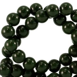 Glaskralen opaque Dark eden green 8mm