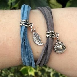 Inspiratie armband 'suede koord'