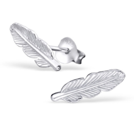 Ear stud feather - echt zilver