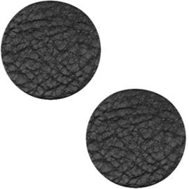 Leer cabochons midnight black 12mm (DQ)