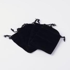 Velvet cadeauzakjes zwart