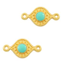 Tussenstuk Tropical Turquoise green-gold (nikkelvrij) DQ