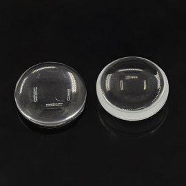 Cabochon clear glass (photo) 10mm