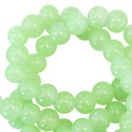 Glaskralen opal spring green 6mm