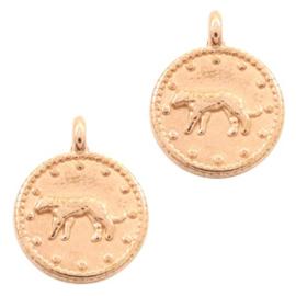 Bedel luipaard rond 12mm Rosé goud (nikkelvrij) DQ