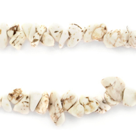 Chips stone kralen Marble white