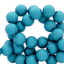 Acryl kralen mat Blue Danube 6mm