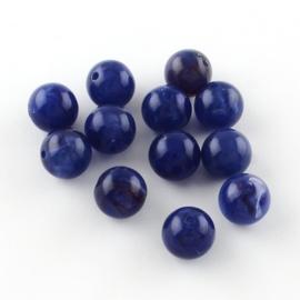 Acryl kraal gemstone look medium blauw 6mm