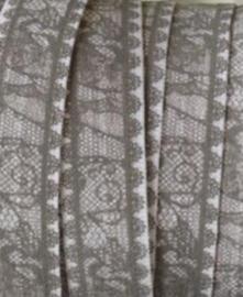 Elastiek fake lace grey