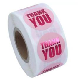 Sticker ''thank you'' foil pink