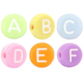 Letterkralen van acryl mix Multi colour