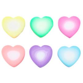 Polymeer kralen hartje Multicolour-white mix