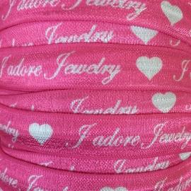 Elastiek J'adore Jewelry pink