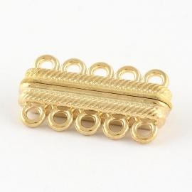 Magneetsluiting 5 ogen goud