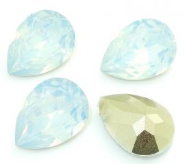 Druppel basis facet 10x14mm pale blue