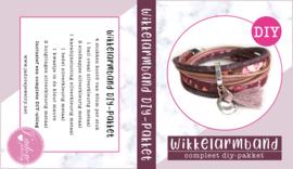 Wikkelarmband DIY-pakket rouge