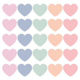 SOW & GROW Hearts cadeaustickers pastel