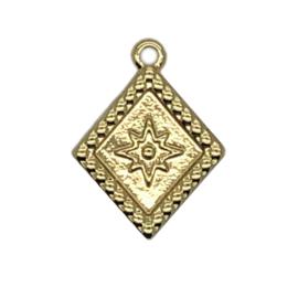 Bedel rhombus goud