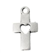 Bedel kruis hart zilver