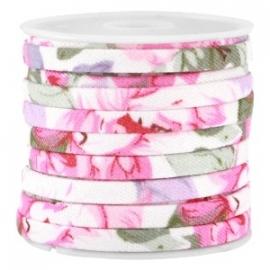 Trendy plat koord 5mm Lila roze
