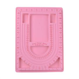 Kralenbord basis roze