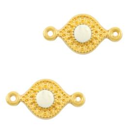 Tussenstuk Tropical Creamy white-gold (nikkelvrij) DQ