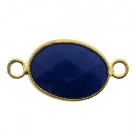 Tussenzetsel jade facet blauw goud