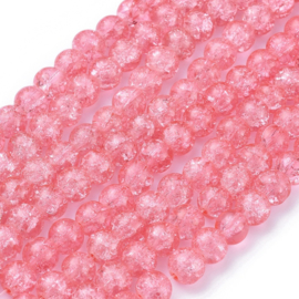 Glaskralen crackle sand 8mm