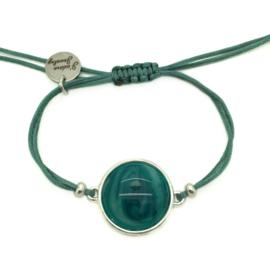 Armbandje ''polaris'' - green & zilver