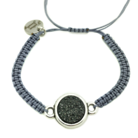 Armbandje ''goldstein'' - grey, black & zilver