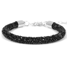 Crystal diamond 7mm Jet black