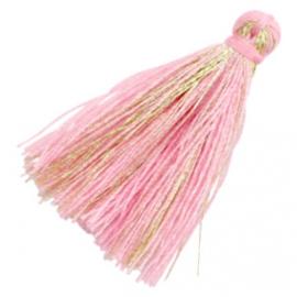 Kwastjes goldline 3cm Pink