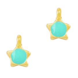 Bedel ster Turquoise green-gold (nikkelvrij) DQ