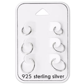 Hoops set - 925 sterling silver