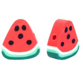 Polymeer kralen watermeloen Red-green