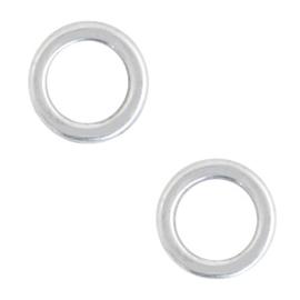 DQ metaal ring 6mm Antiek zilver (nikkelvrij)